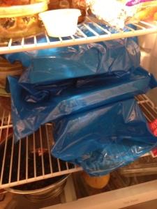1/2 of the total drugs go in the fridge. good thing we got that new fridge!